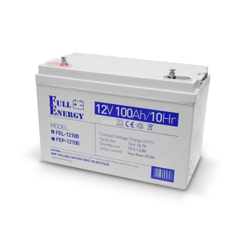 Акумулятор гелевий 12В 100 Аг для ДБЖ Full Energy FEL-12100