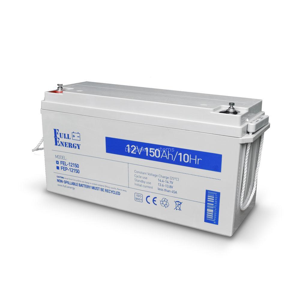 Акумулятор гелевий 12В 150 Аг для ДБЖ Full Energy FEL-12150