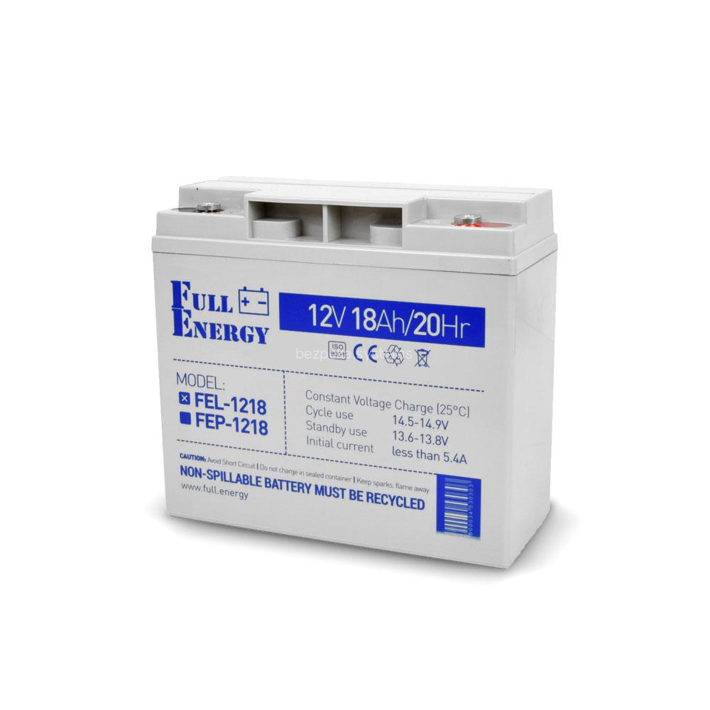Акумулятор гелевий 12В 18 Аг для ДБЖ Full Energy FEL-1218