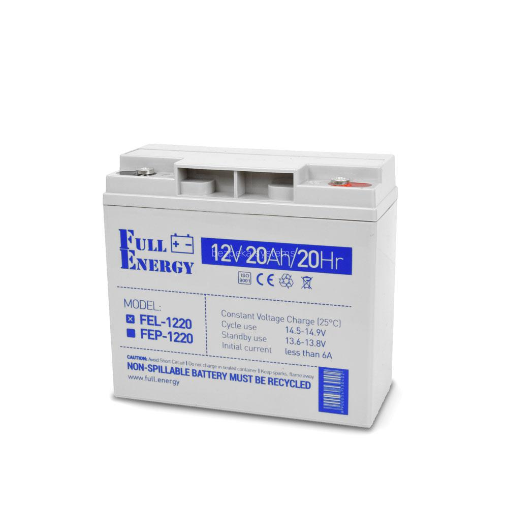 Акумулятор гелевий 12В 20 Аг для ДБЖ Full Energy FEL-1220