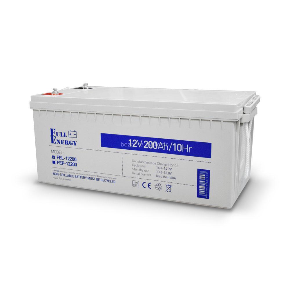 Акумулятор гелевий 12В 200 Аг для ДБЖ Full Energy FEL-12200