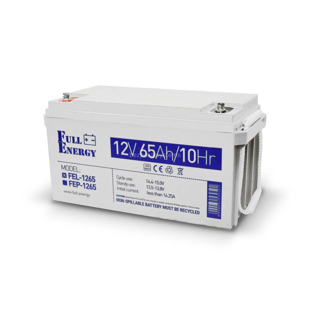 Акумулятор гелевий 12В 65 Аг для ДБЖ Full Energy FEL-1265