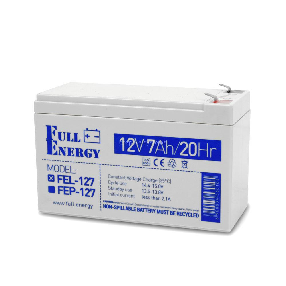 Акумулятор гелевий 12В 7 Аг для ДБЖ Full Energy FEL-127