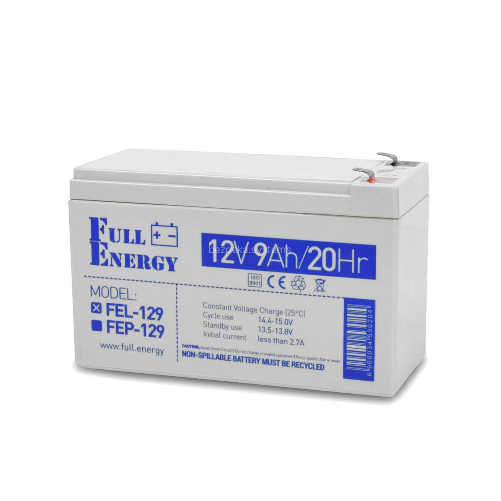 Акумулятор гелевий 12В 9 Аг для ДБЖ Full Energy FEL-129
