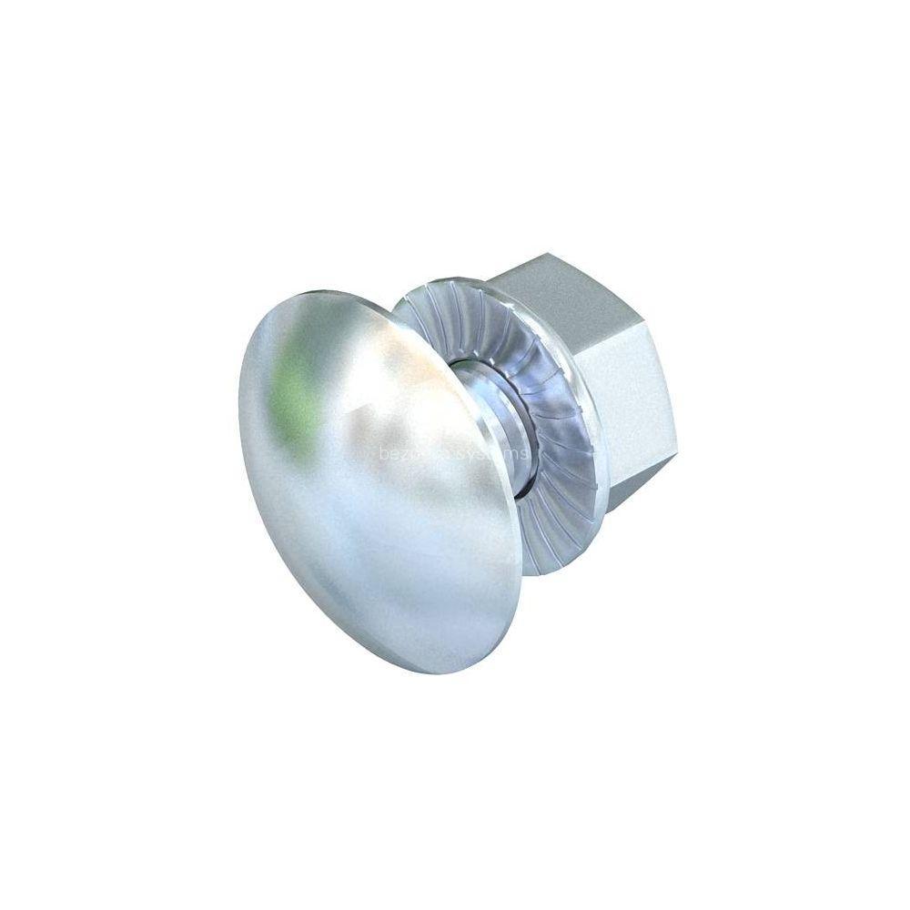 Болт з напівкруглою голівкою з комбінованою гайкою М6х12мм OBO Bettermann (100шт.) 6406130