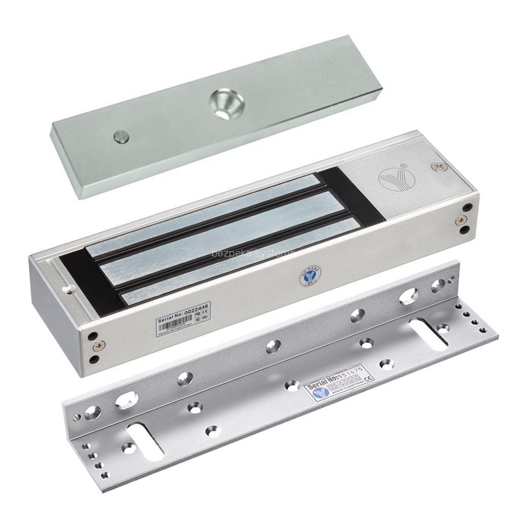 Електромагнітний замок Yli Electronic YM-500 з куточком монтажним Yli Electronic MBK-500L