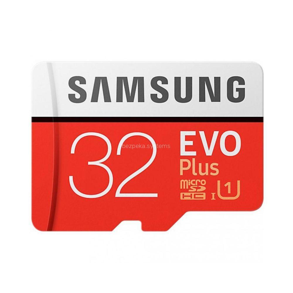 Картка пам'яті Samsung 32GB microSDHC C10 UHS-I R95/W20MB/s Evo Plus + SD адаптер (MB-MC32GA/RU)