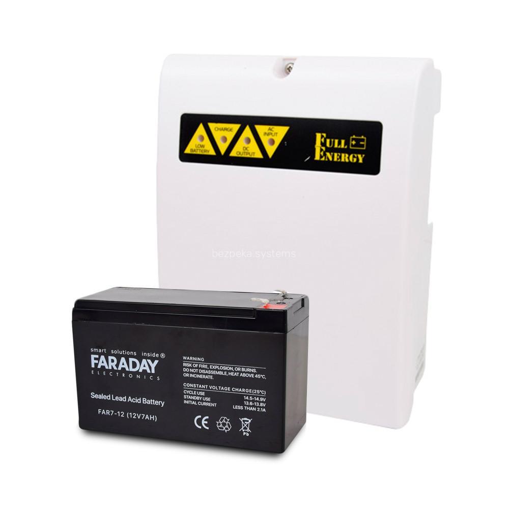 Комплект блок безперебійного живлення Full Energy BBGP-123 + акумулятор 12В 7 Ач для ДБЖ Faraday Electronics FAR7-12