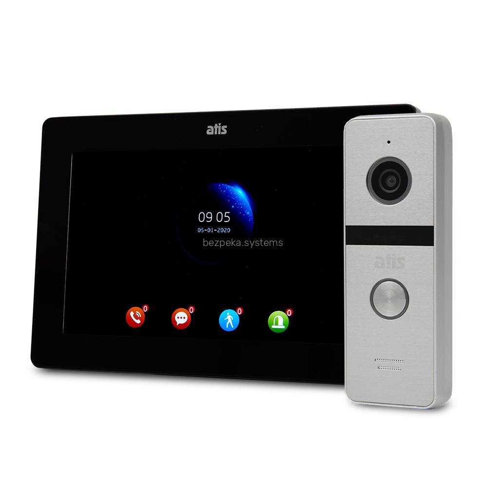 Комплект відеодомофона ATIS AD-770FHD Black + AT-400FHD Silver