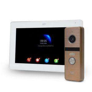komplekt-videodomofona-atis-ad-77fhd-white-at-4hd-gold-883943 — Bezpeka.Systems