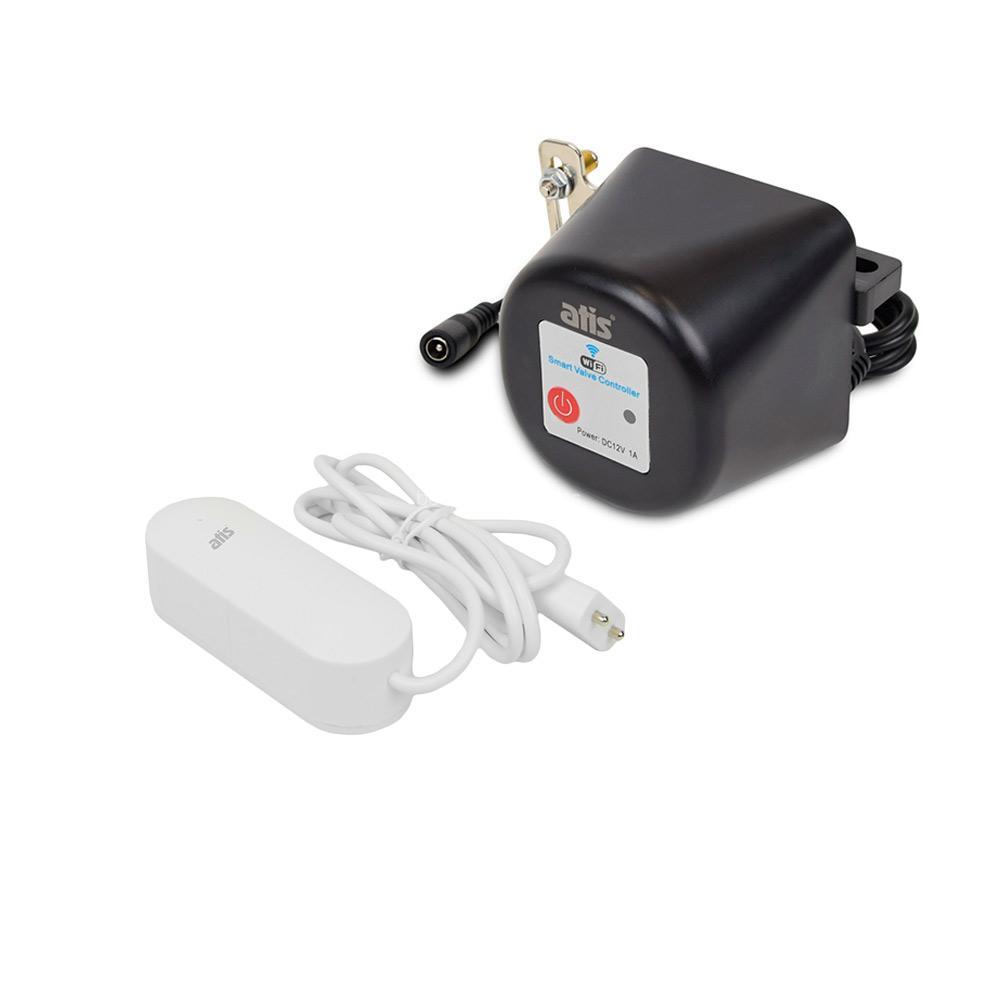 Комплект захисту від протікання води: бездротовий датчик затоплення ATIS-700DW-T і електропривод для кульового крану ATIS-TC34 з підтримкою Tuya Smart