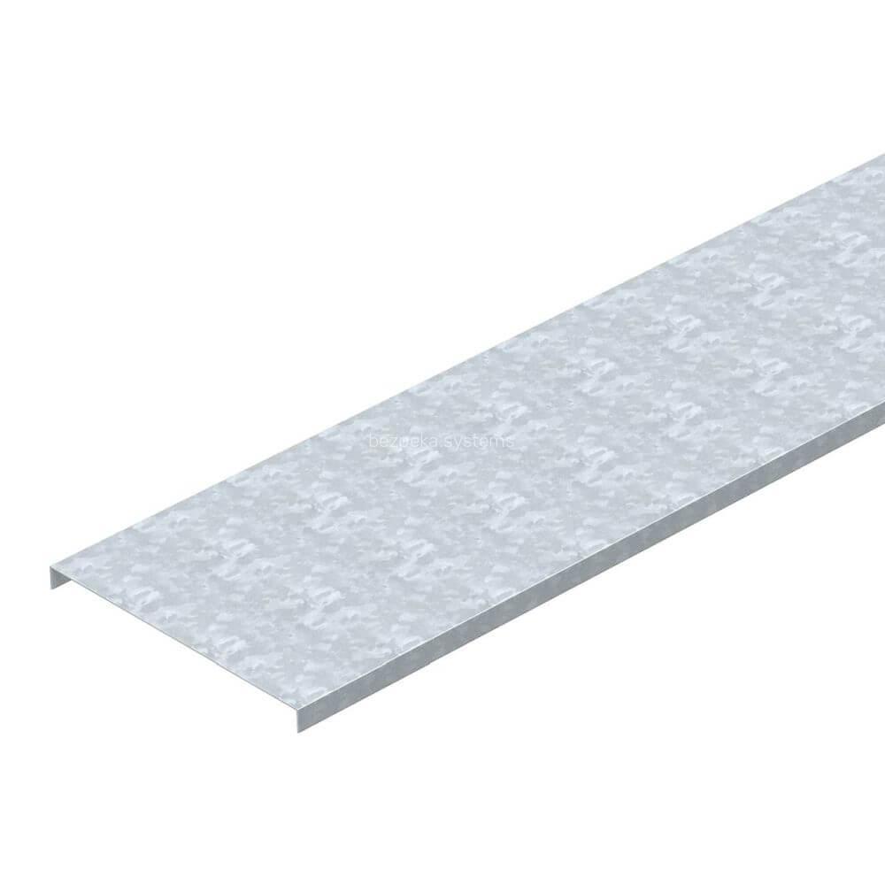 Кришка неперфорована OBO Bettermann 100х3000 (3м) 6052103 для металевих лотків