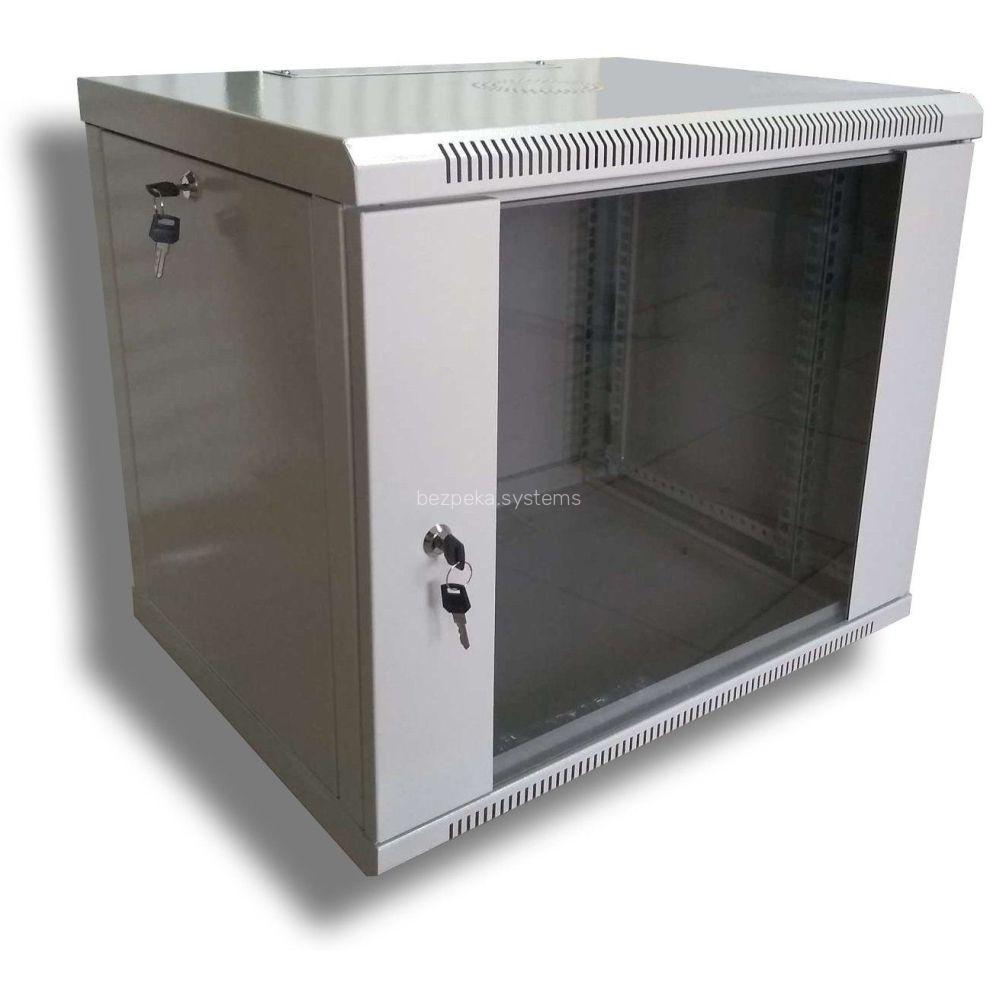 Шафа серверна Hypernet 9U 600 x 600 WMNC66-9U-FLAT для мережевого обладнання