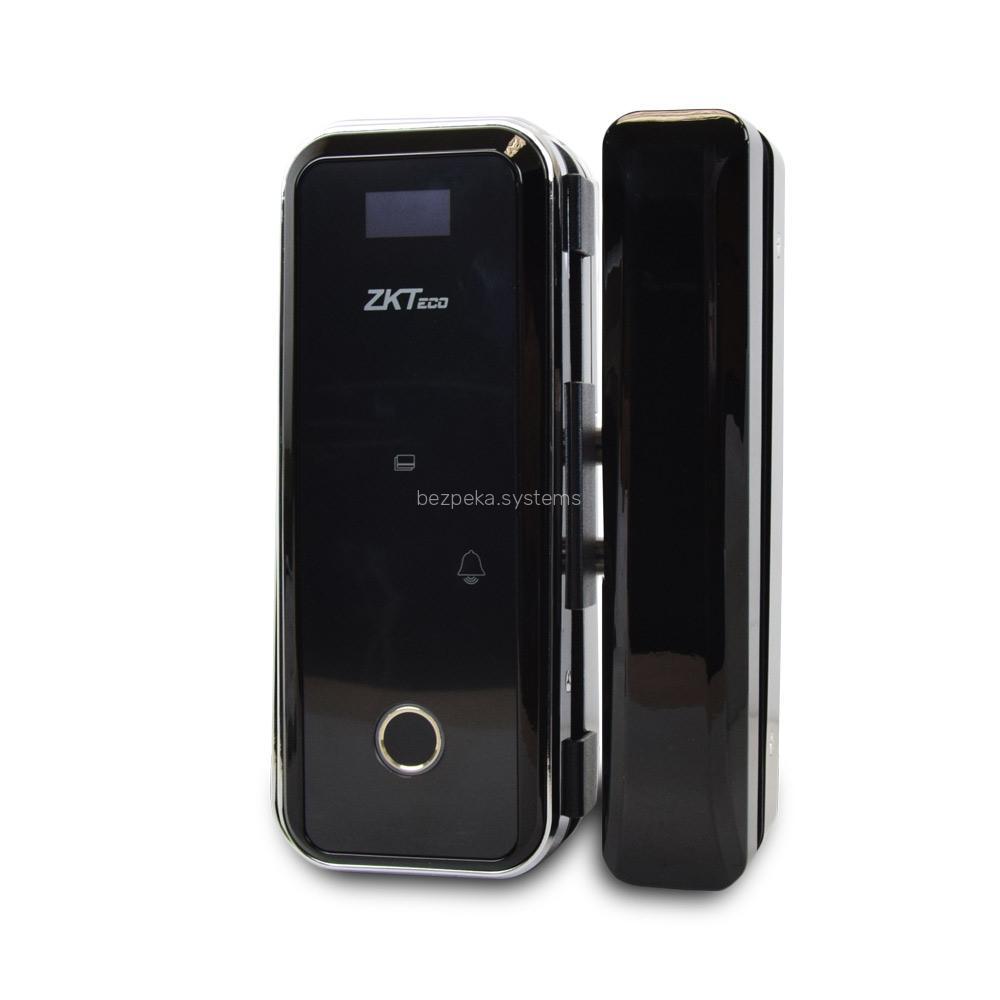 Smart замок ZKTeco GL300 left для скляних дверей зі сканером відбитку пальця і зчитувачем Mifare