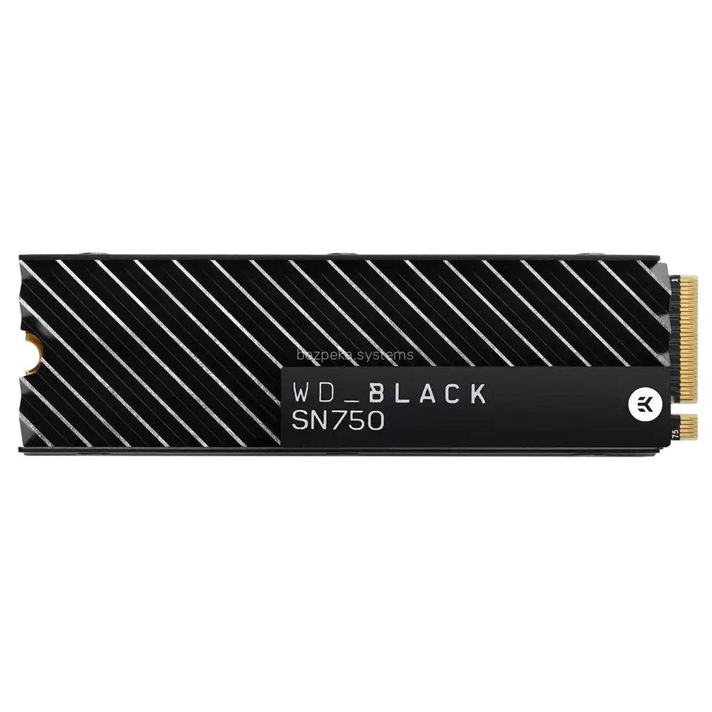 Твердотільний накопичувач Western Digital SSD WD M.2 NVMe PCIe 3.0 4x 1TB SN750 Black 2280 + HS WDS100T3XHC
