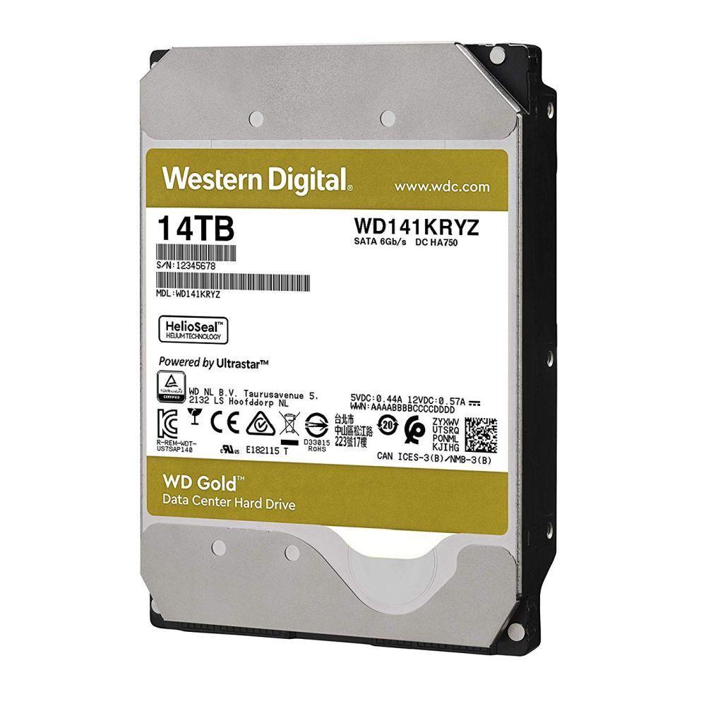 Жорсткий диск 14TB Western Digital Gold WD141KRYZ для комп'ютерів і серверів